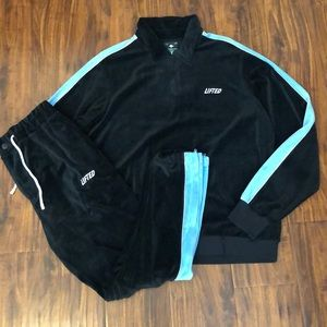 LRG Cozy Velour Sweatsuit Set